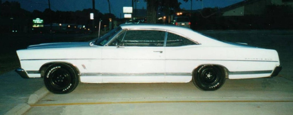 My second car, a 1967 Galaxie 500 fastback. 390/C6/9 inch. Hoping to finally get one of my 460's dropped in this summer.